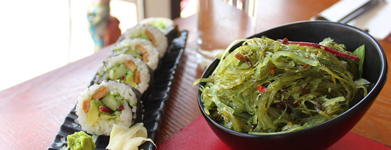 Vegetarian Delights -Sushi & Hot Dishes