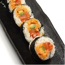 52. Spicy Salmon Roll Futomaki