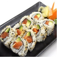 45. Salmon Avocado Roll Uramaki
